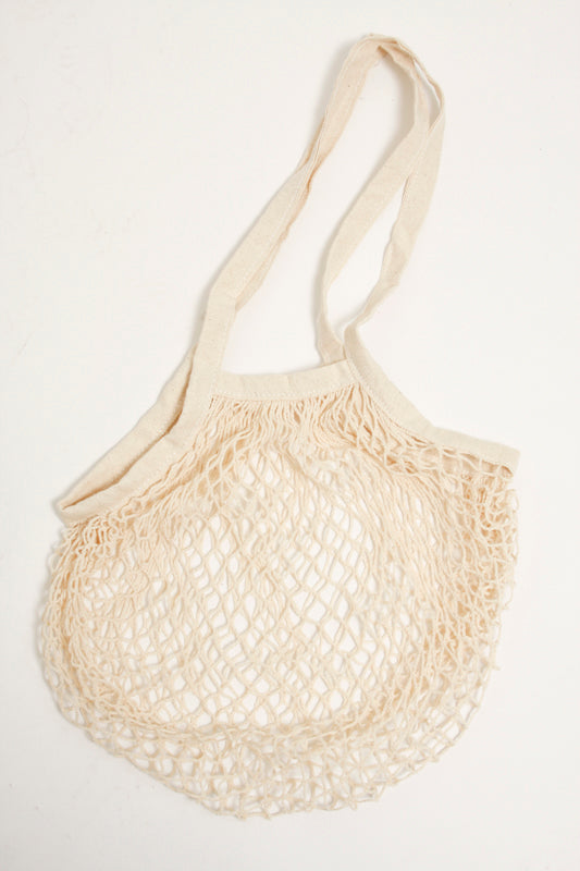 CASA CLARA NETTED MARKET BAG, IVORY - Cloak and Dagger NYC