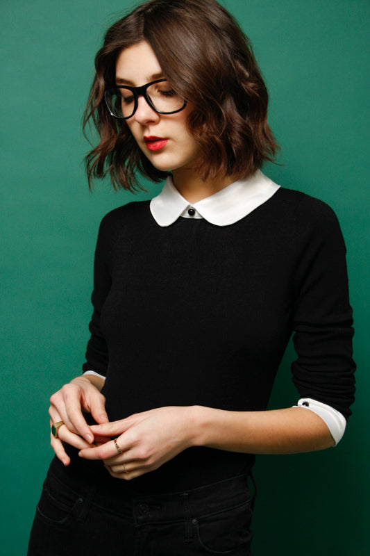 L'ECOLE DES FEMMES PETER PAN COLLAR BODYSUIT - Cloak and Dagger NYC