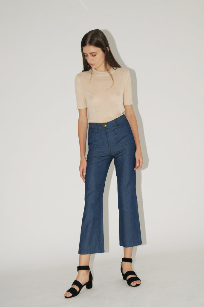 DIARTE DENIM CORSA TROUSER - Cloak and Dagger NYC