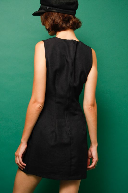VINTAGE 60'S BLACK MINI DRESS