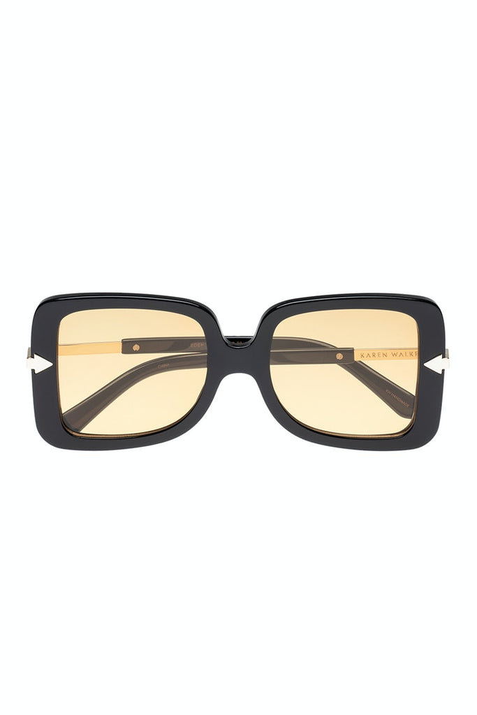 KAREN WALKER EDEN SUNGLASSES, BLACK