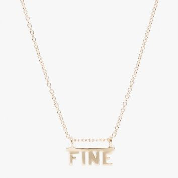 WINDEN J. HANNAH 14K FINE NECKLACE