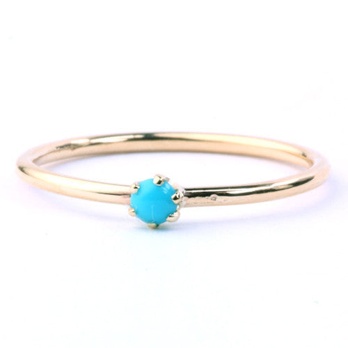 KATIE DIAMOND TURQUOISE GOLDIE RING - Cloak and Dagger NYC