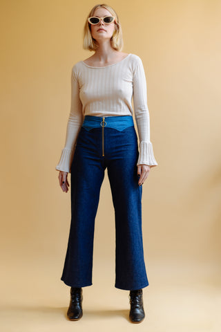 LYKKE WULLF JESSE ZIP UP TWO TONE PANT
