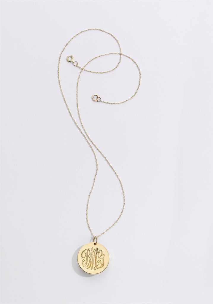 BLANCA MONROS GOMEZ MONOGRAMMED NECKLACE - Cloak and Dagger NYC