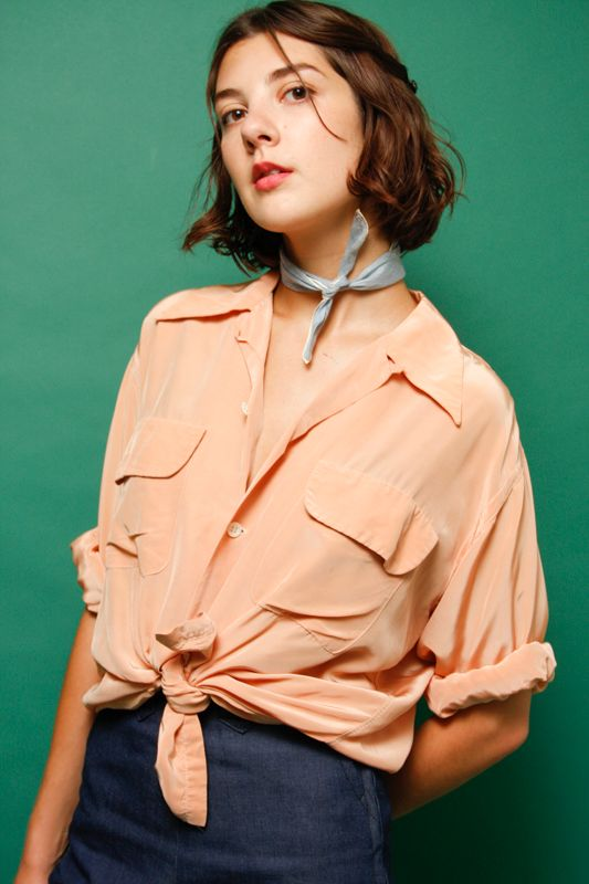 VINTAGE PEACH 40'S LONG SLEEVE SHIRT