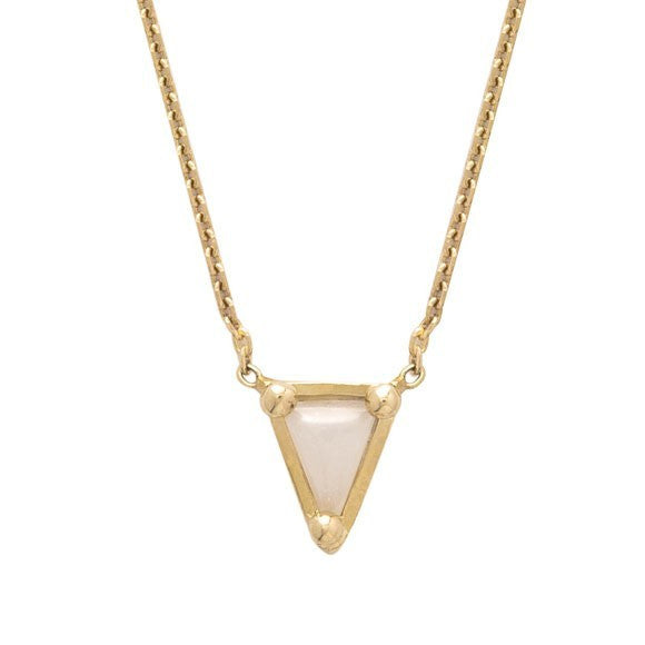 MOCIUN TRIANGLE NECKLACE, SNOWDRIFT AGATE - Cloak and Dagger NYC