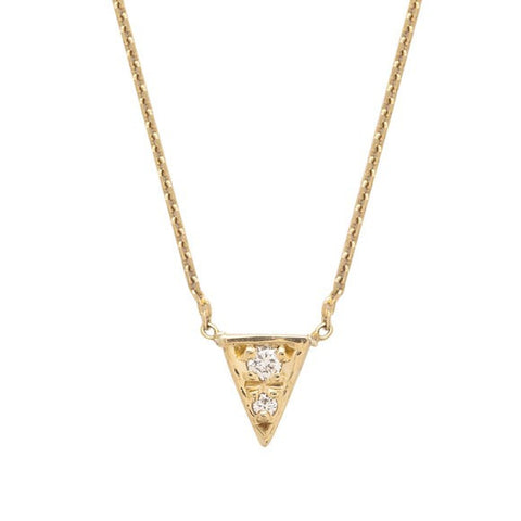 MOCIUN WHITE DIAMOND TRIANGLE NECKLACE