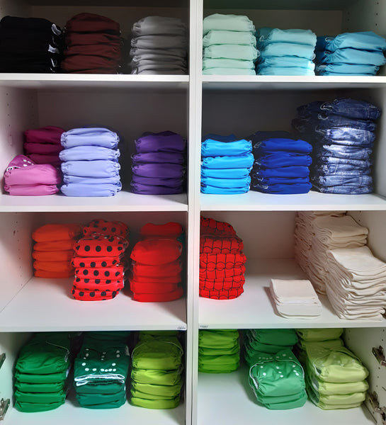 Why we stock so many solid colour diapers.