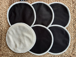 3 pairs of black breastfeeding pads