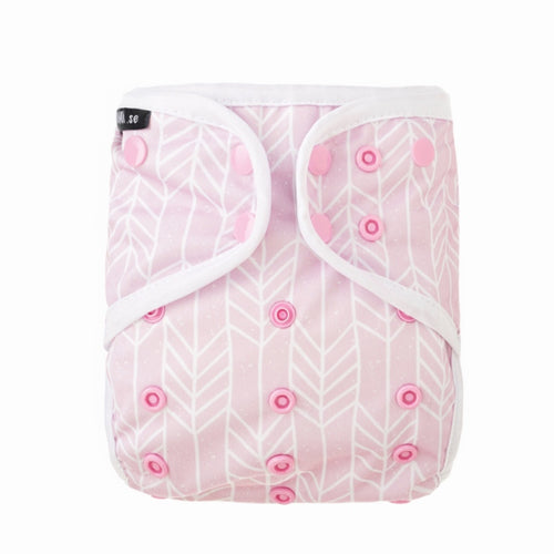 Eco Mini tygblöjor, cloth diaper, pink