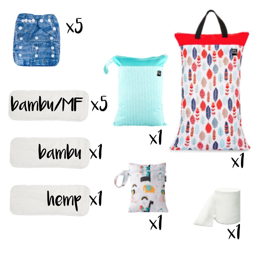 Eco Mini diaper and wet bag try-out package deal