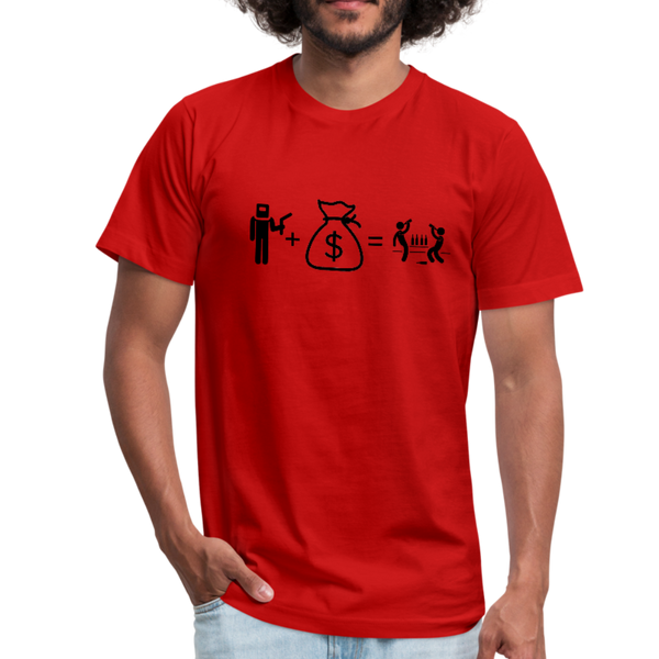 T-Shirt by Bella + Canvas - red