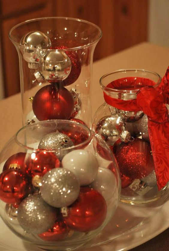 Christmas bauble in a jar