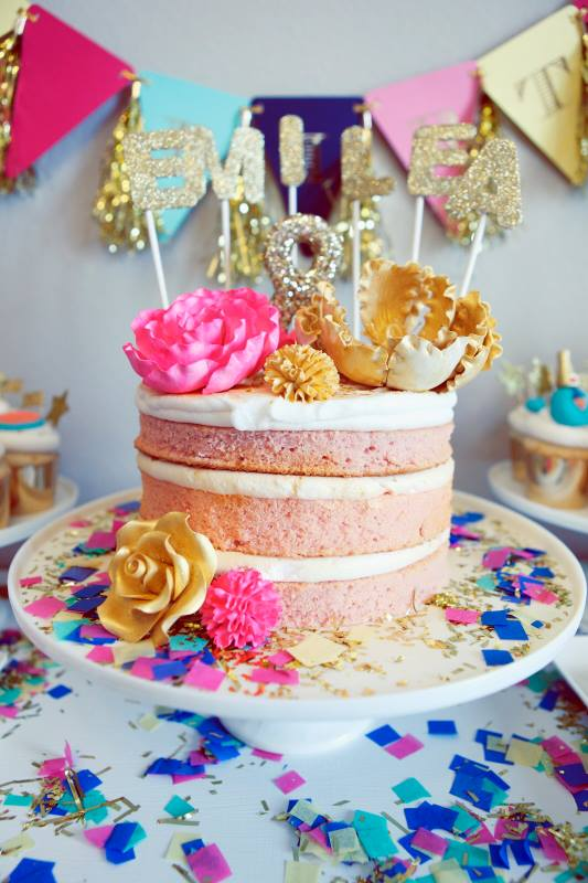 glitz-glamour-glitter-geometrical-spa-party-naked-cake-glittered-toppers