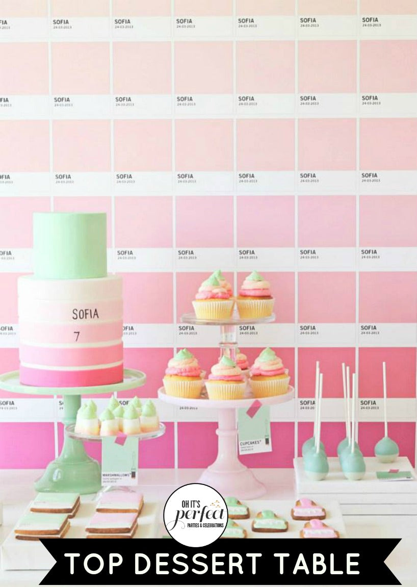 top-dessert-table-ombre-pink-green-party