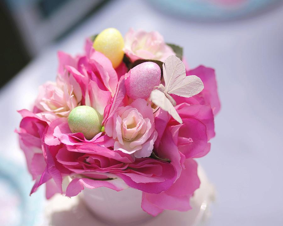 tablesetting, easter placeseting