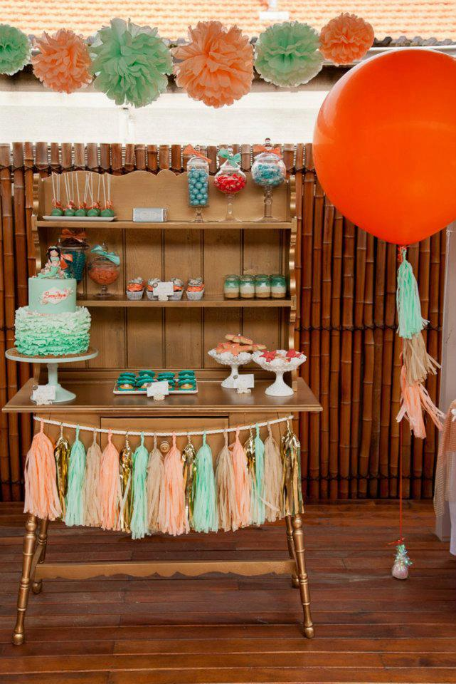 mermaid-theme-birthday-party-mint-and-peach