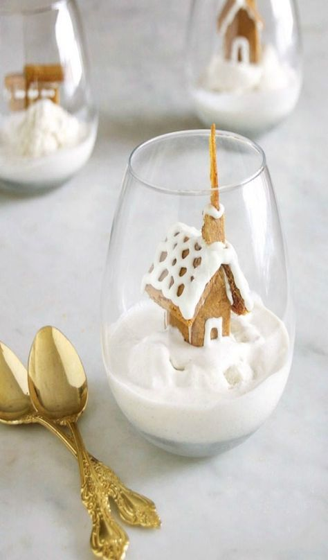 Gingerbread House in a dessert glass