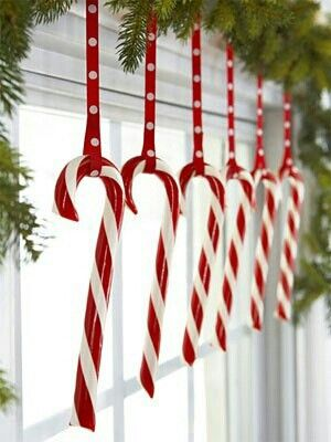 Christmas candy cane decorations