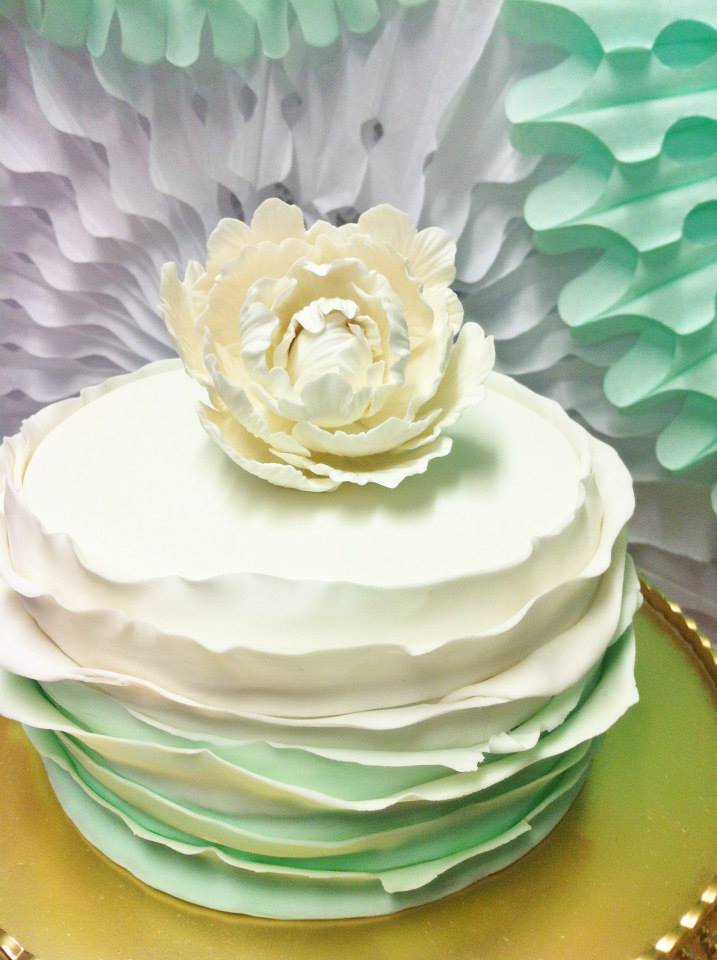 mint-green-ruffle-cake