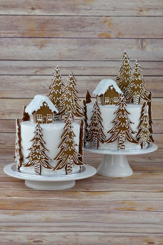 Gingerbread cake forest