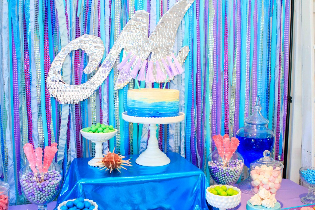 mermaid-theme-buffet-dessert-table-lolly-buffet-candy-bar