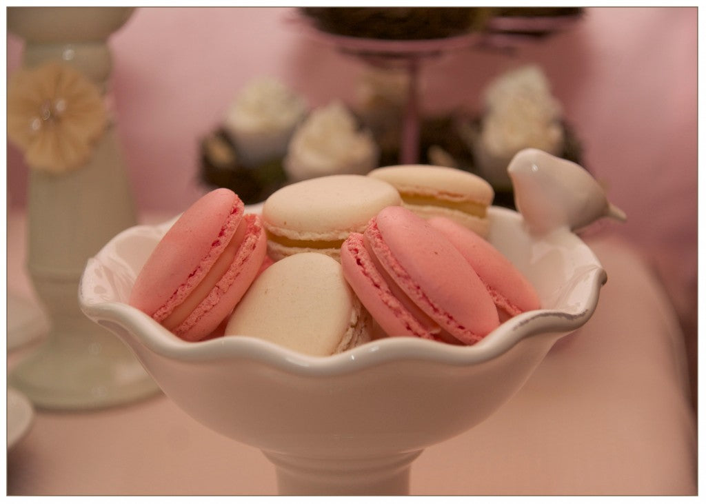 vintage-bird-themed-baby-shower-mint-pink-macarons