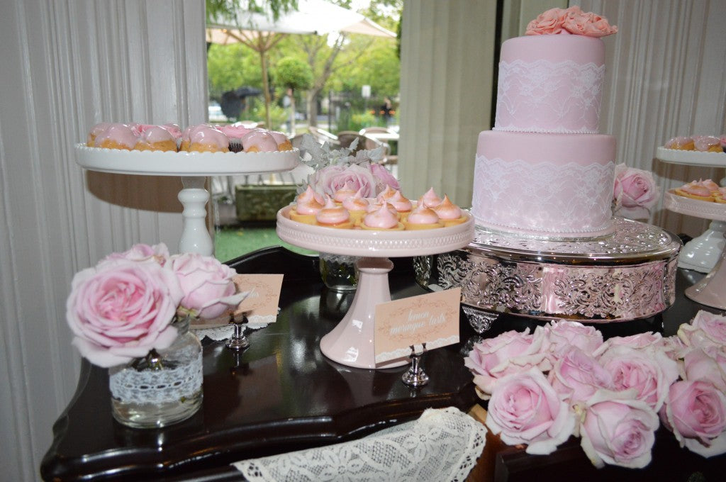 vintage-white-peach-pink-dessert-table-wedding
