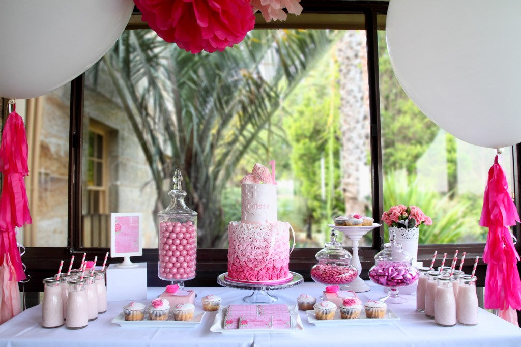 rose-theme-ombre-pink-birthday-christening