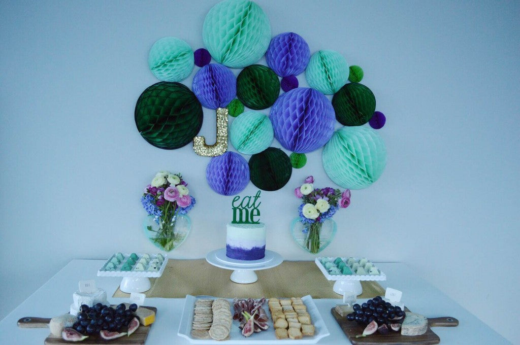 blue-green-gold-dessert-table-party