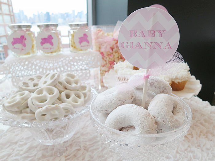 lamb-themed-pink-white-baby-shower