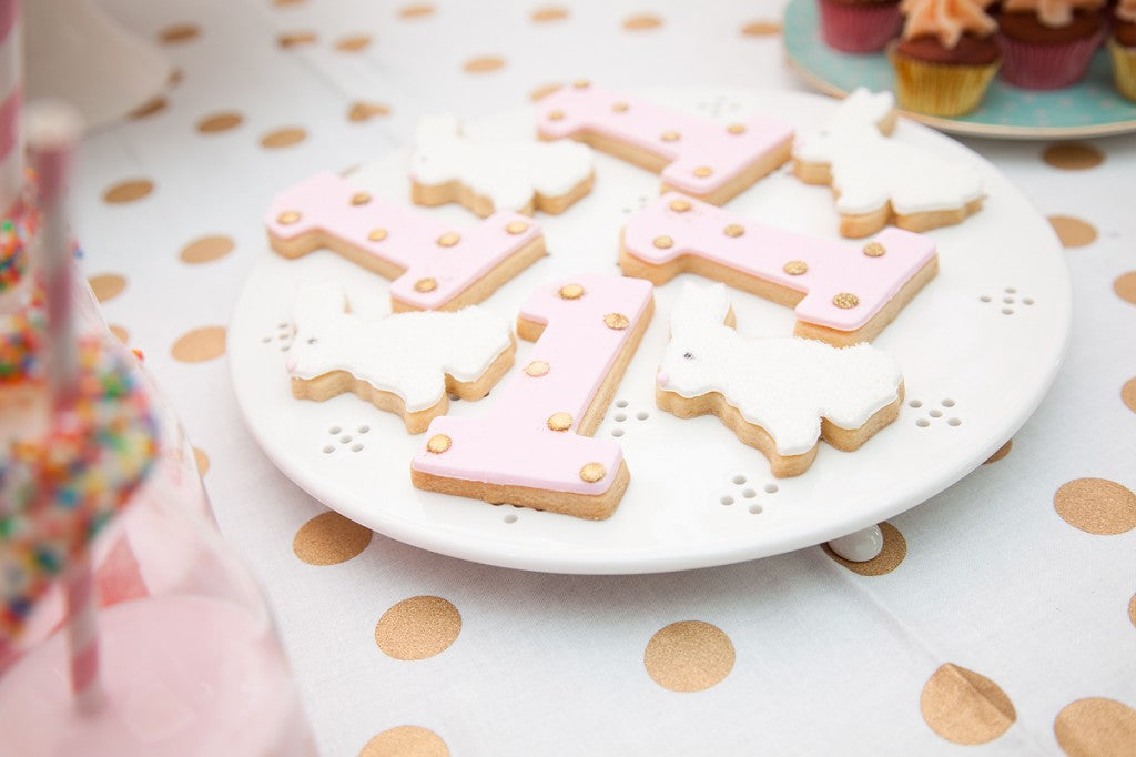 pink-gold-bunny-first-birthday-cookies
