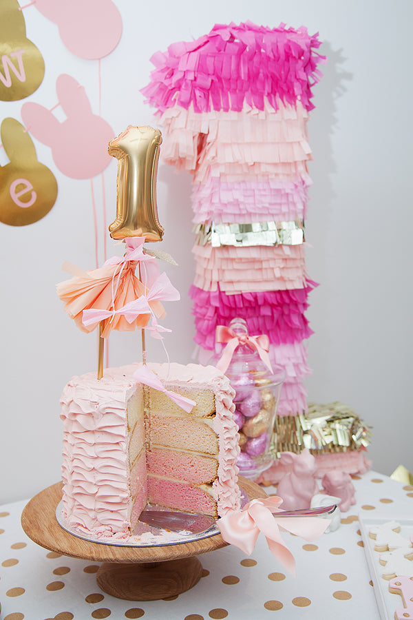 pink-gold-bunny-first-birthday-cake-topper