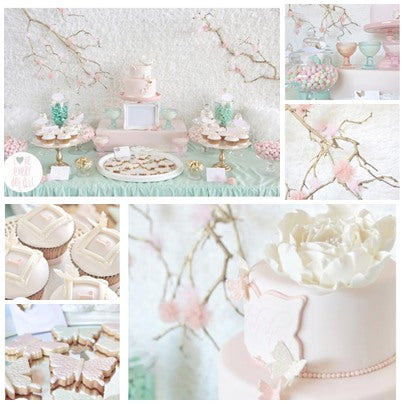 butterfly and blossom christening party