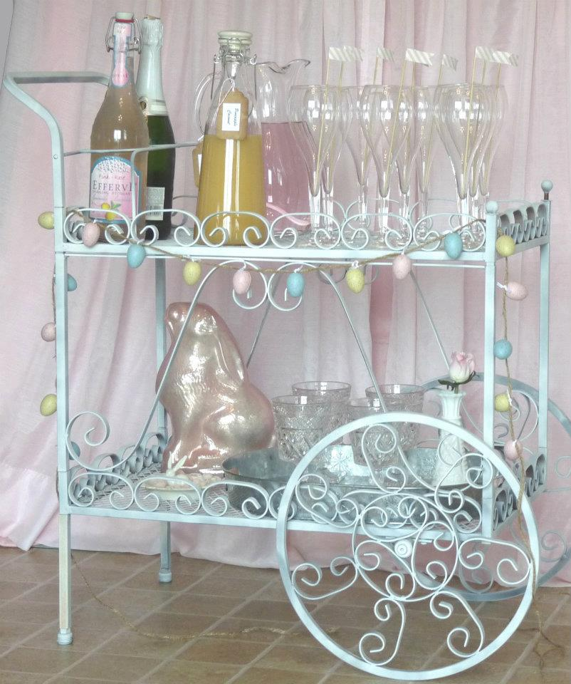 bar cart drinks station