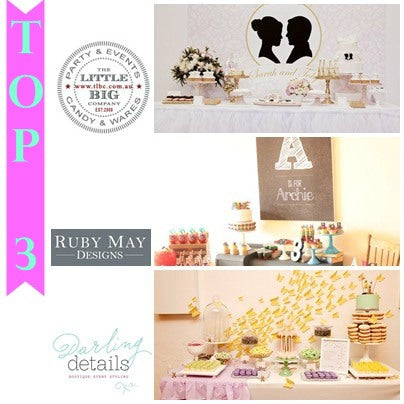 stylish parties, dessert buffet, dessert table