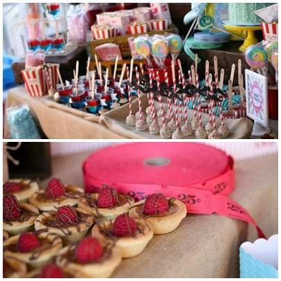 carnival-vintage-circus-theme-party-dessert-table