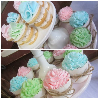 cookie-stacks-cupcakes-pastels-horse-riding-party