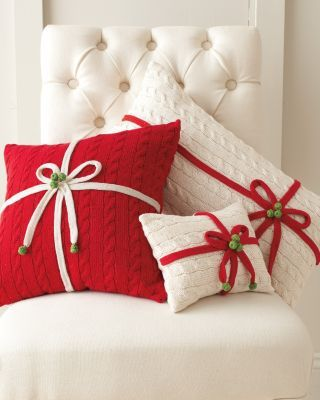 Christmas cushions that look like gifts