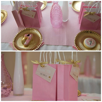 favours-geometrical-theme-pink-and-gold-seventh-birthday-party