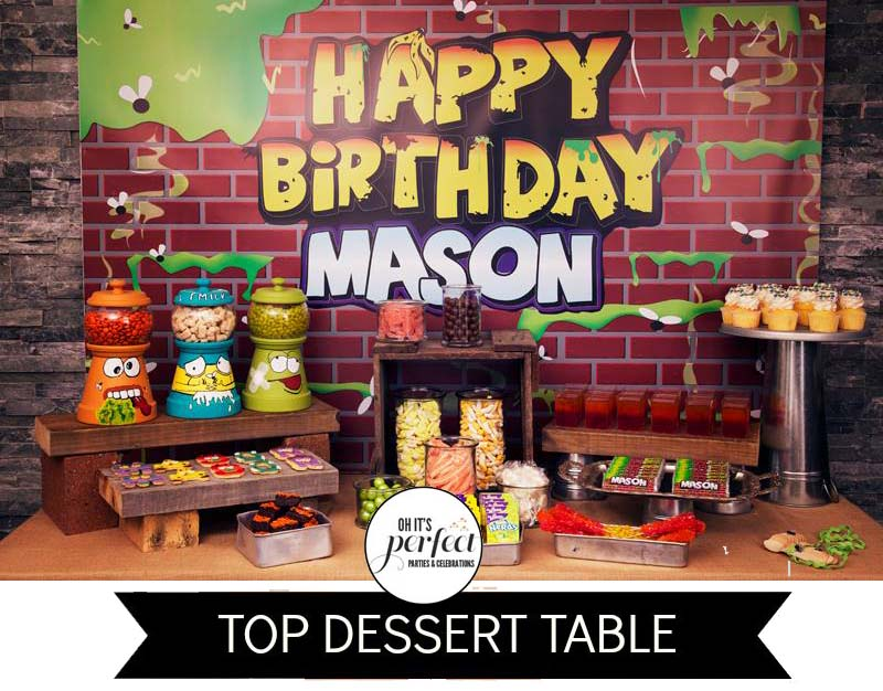 Trash-Pack-birthday-party-dessert-table-candy-buffet