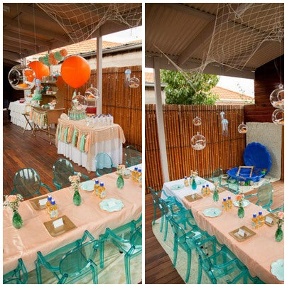 mermaid-theme-party-table-setting