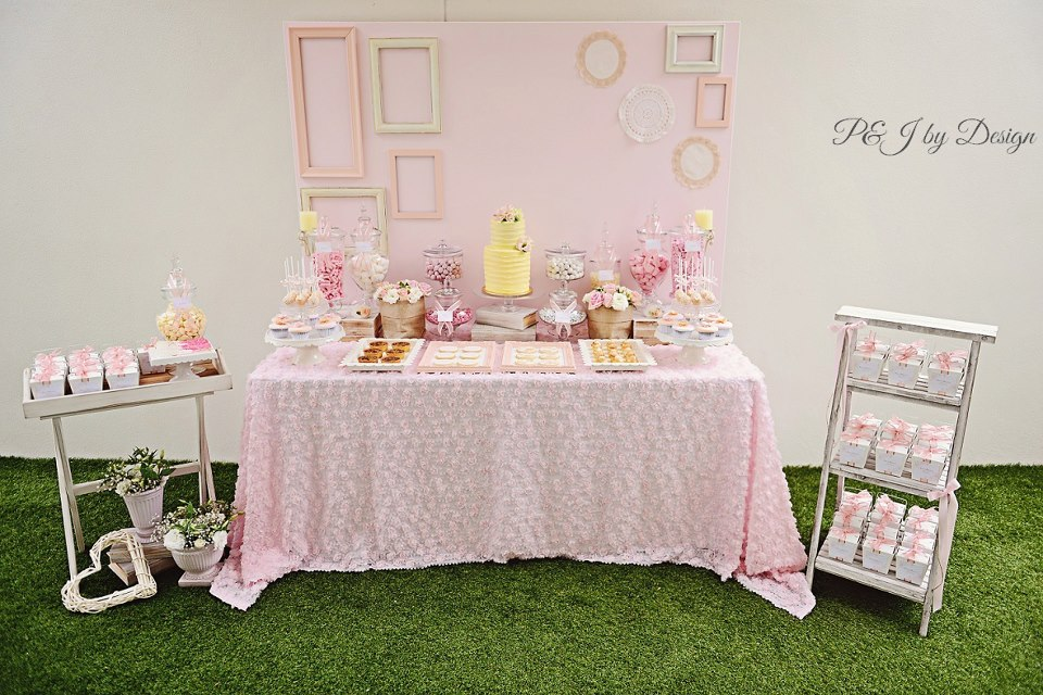 pink-yellow-party-dessert-table