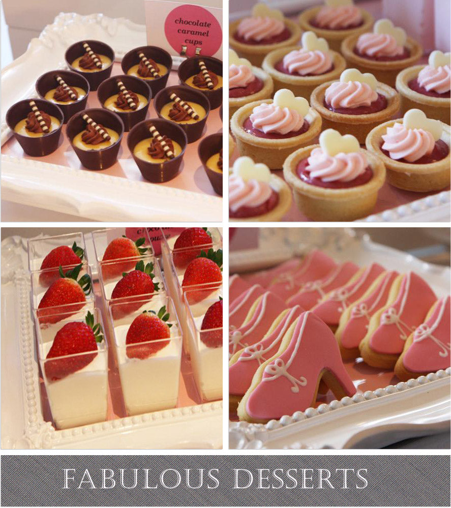 fashion dessert table, fabulous party