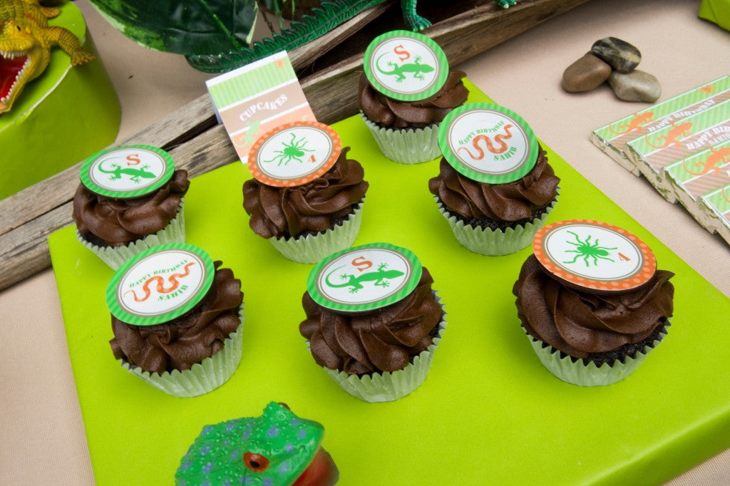 reptile-party-cupcakes