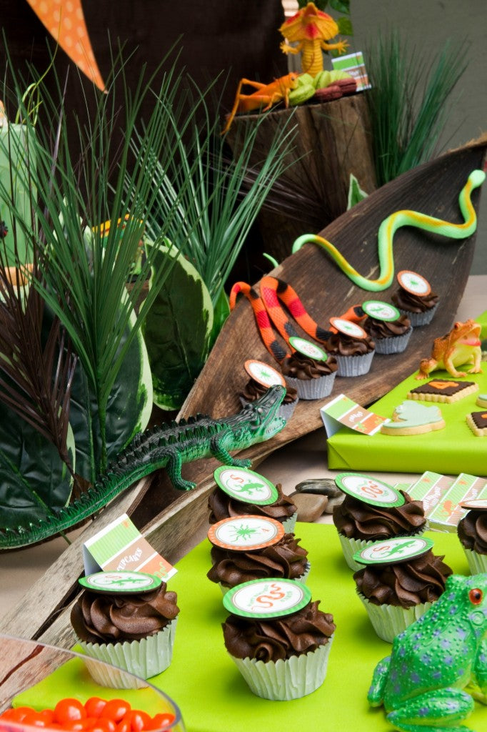 reptile-party-candy-table