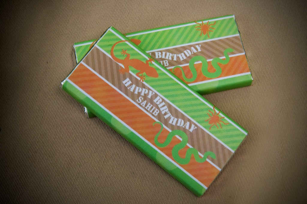 reptile-party-chocolate-wrappers