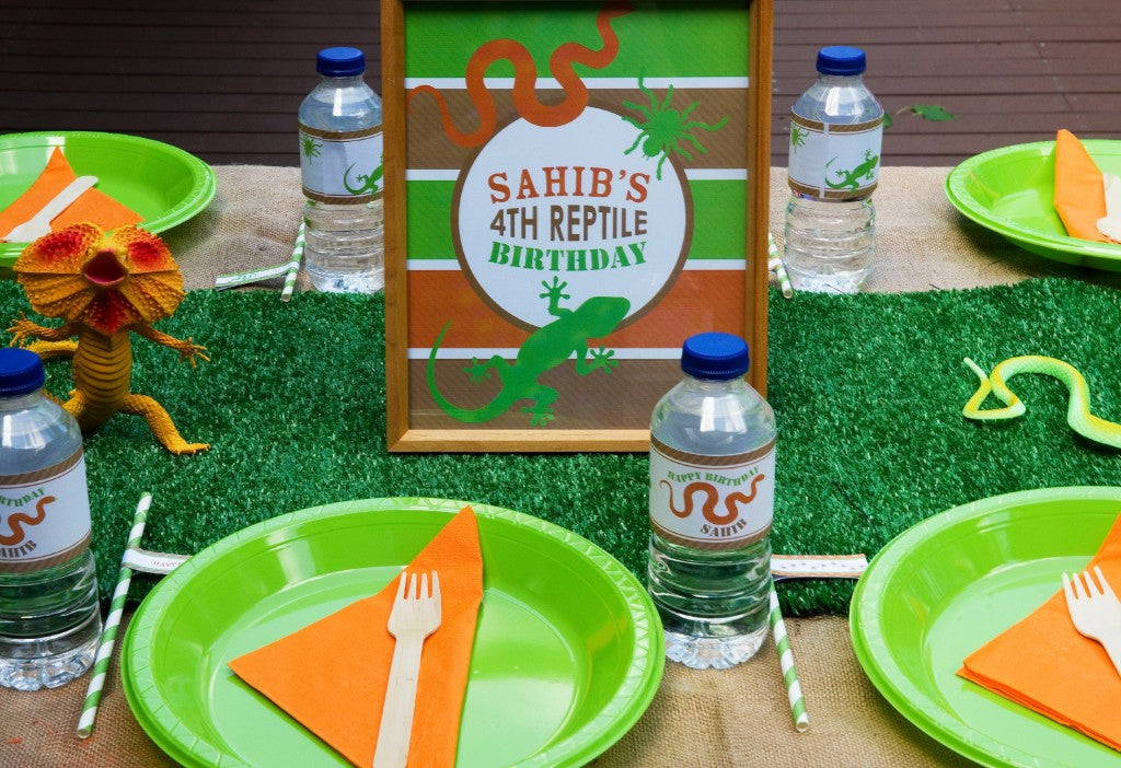reptile-party-tablesetting