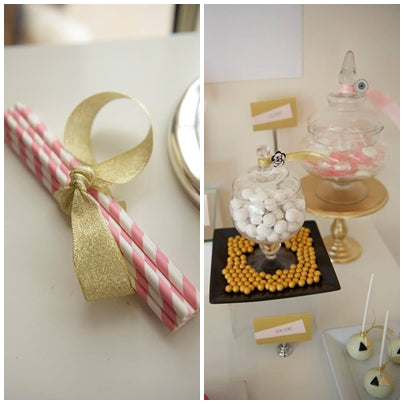 tablesetting-geometrical-theme-pink-and-gold-seventh-birthday-party